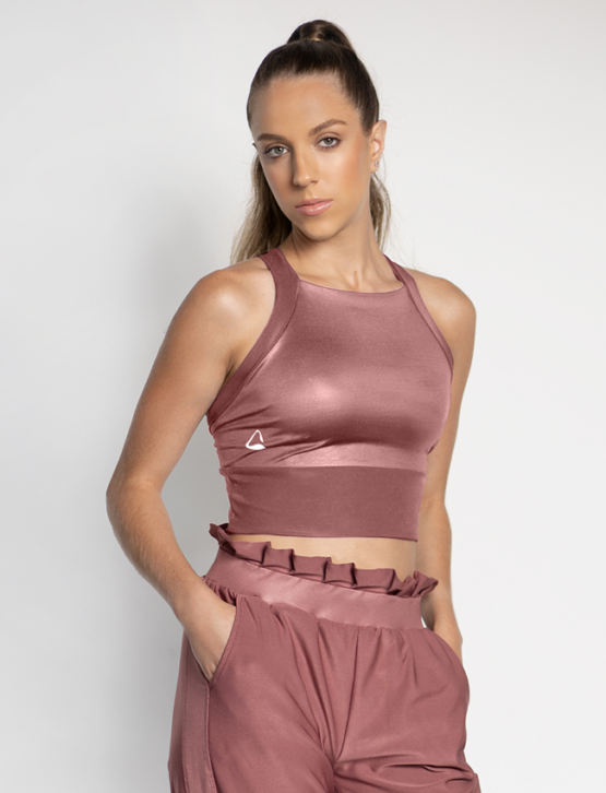 Wet Halter Croptop